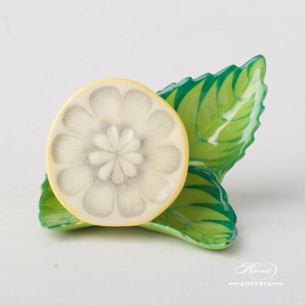 LemonMenu Holder8978-0-00 C Naturalistic pattern. Herend fine chinahand painted. Tableware