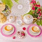 Tea Set for 2 Persons - Herend Sevres Roses SPROG pattern. Rich gilded pattern. Herend fine china hand painted. Tableware