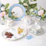 Tea Set for 1 Person - Herend Nyon / Morning Glory pattern. Rich gilded pattern. Herend fine china hand painted. Tableware