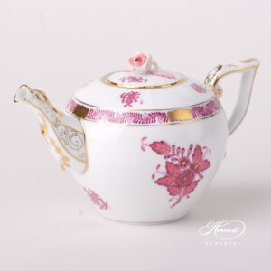 Tea Pot - Miniature - Chinese Bouquet Raspberry / Apponyi Light Purple