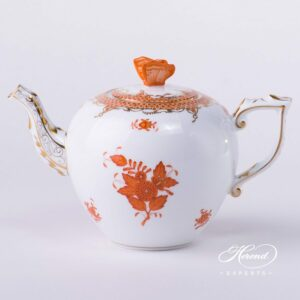 Tea Pot - Chinese Bouquet Rust / Apponyi Orange Fish Scale
