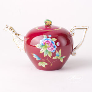 Tea Pot - Miniature - Queen Victoria on Purple Background