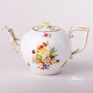 Tea Pot w. Rose Knob - Fruits