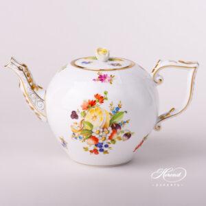 Tea Pot w. Rose Knob - Fruits