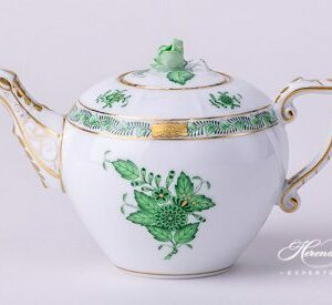Tea Pot - Miniature - Chinese Bouquet / Apponyi Green