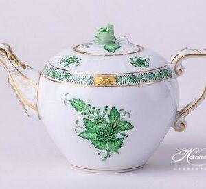 Tea Pot - Miniature - Chinese Bouquet / Apponyi Green