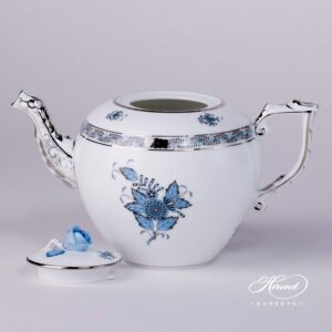Tea Pot - Chinese Bouquet / Apponyi Turquoise
