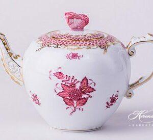 Tea Pot - Chinese Bouquet Purple
