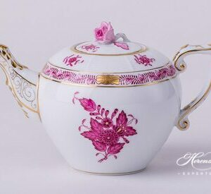 Tea Pot - Miniature - Chinese Bouquet / Apponyi Purple