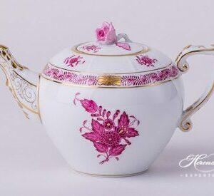 Tea Pot - Miniature - Chinese Bouquet / Apponyi Purple
