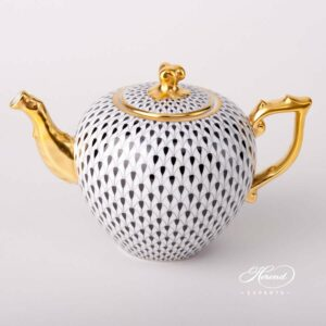 Tea Pot - Black Fish Scale