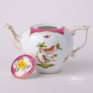 Tea Pot - Rothschild Bird Purple Fish Scale