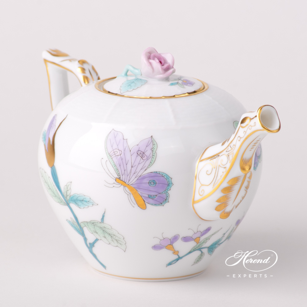 Tea Pot Miniature Royal Garden Turquoise