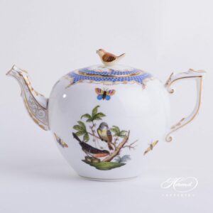 Tea Pot - Rothschild Bird Blue Fish Scale