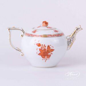 Tea Pot - Chinese Bouquet Rust / Apponyi Orange