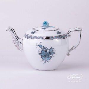 Tea Pot - Chinese Bouquet / Apponyi Turquoise