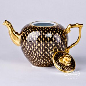 Tea Pot - Gold Fish Scale