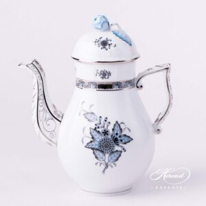 Coffee Pot - Chinese Bouquet / Apponyi Turquoise