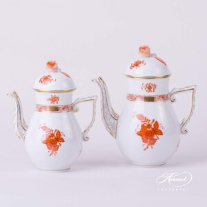 Coffee Pot - Chinese Bouquet Rust / Apponyi Orange