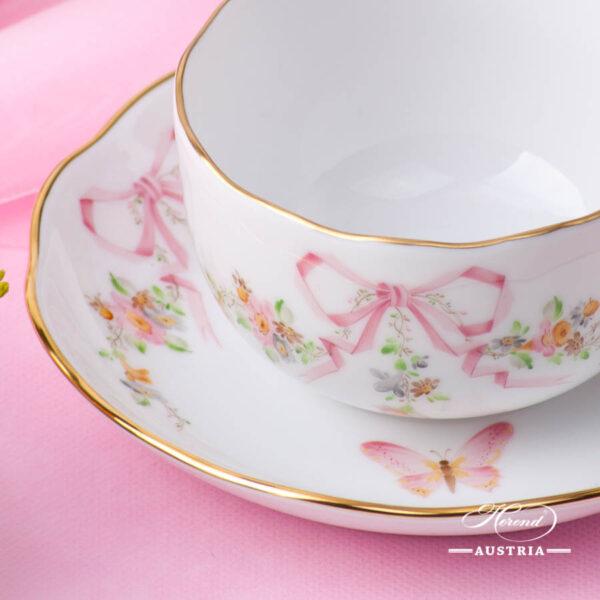 Herend - Tea Cup w. Saucer 20724-0-00 EDENP Eden Pink design. Herend fine china