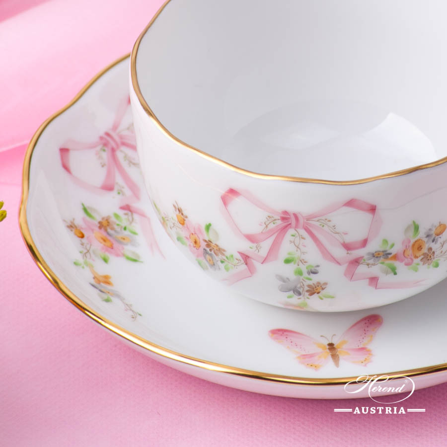 Herend - Tea Cup w. Saucer 20724-0-00  EDENP Eden Pink design. Herend fine china