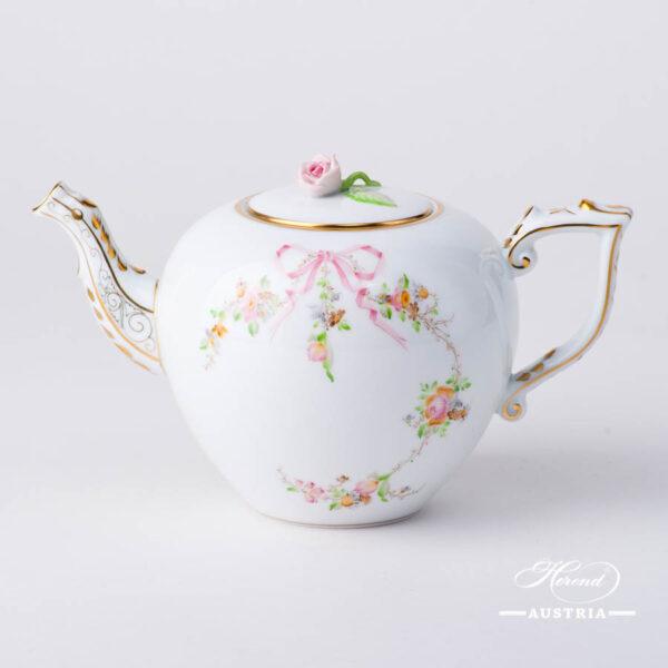 Herend - Tea Pot w. Rose Knob 20606-0-09EDENP Eden Pink design. Herend fine china