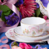 Tea Set for 2 People w. Dessert Plate - Herend Eden Pink - EDENP pattern. Herend fine china