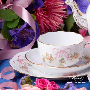 Herend Eden Pink - Tea Set w. Dessert Plate
