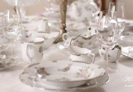 Herend porcelain Victoria Platinum dinner set.