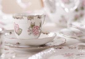 Herend porcelain Victoria Platinum coffee cup.
