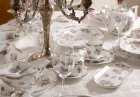 Herend porcelain Victoria Platinum dinner set overview.