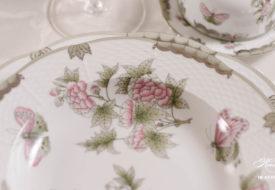 Herend porcelain Victoria Platinum soup plate.